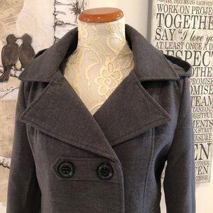 American Rag Grey Wool Blend Peacoat with Hood